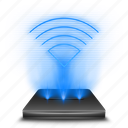 communication, connection, hologram, holographic, internet, wifi, wireless icon