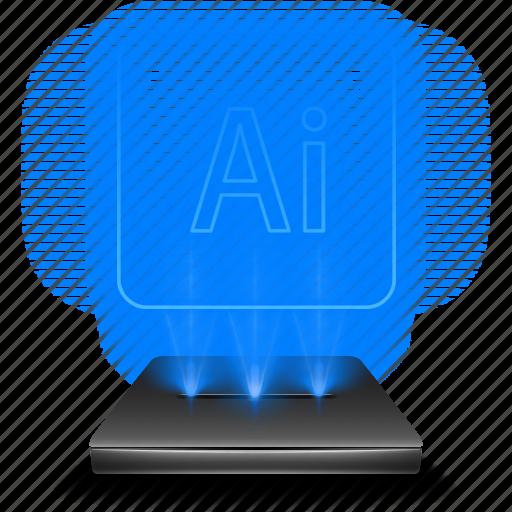 adobe, hologram, holographic, illustrator, photoshop icon