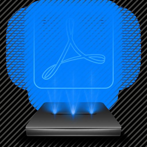 adobe, hologram, holographic, pdf, pro, reader icon