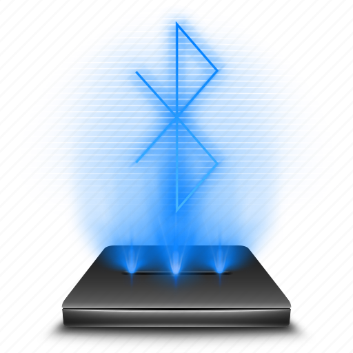 bluetooth, communication, connection, hologram, network, wireless icon