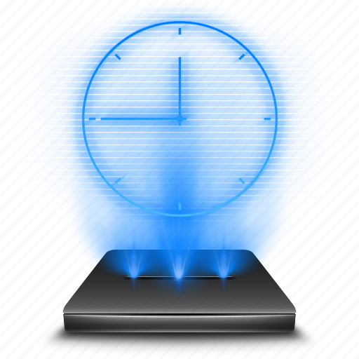 aplication, application, clock, hologram, time, timer, watch icon