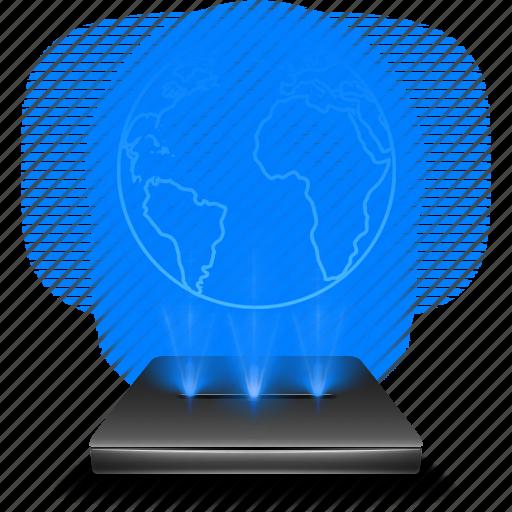browser, hologram, internet, online, web icon