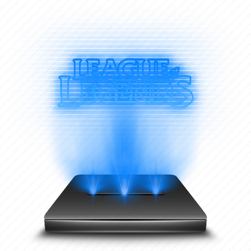entertainment, game, hologram, holographic, league, legends icon