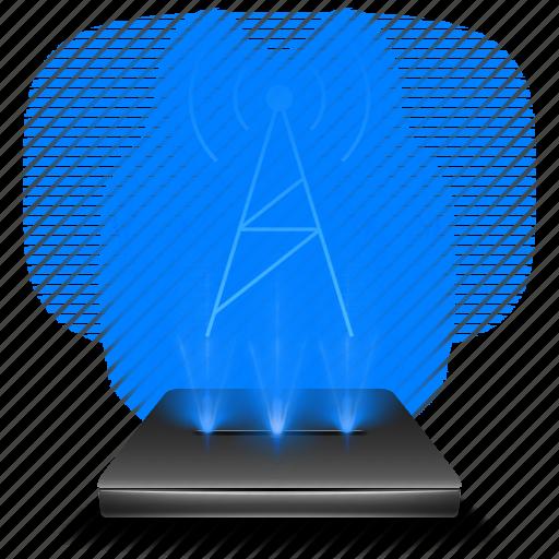 communication, fmam, hologram, radio, wave, wireless icon