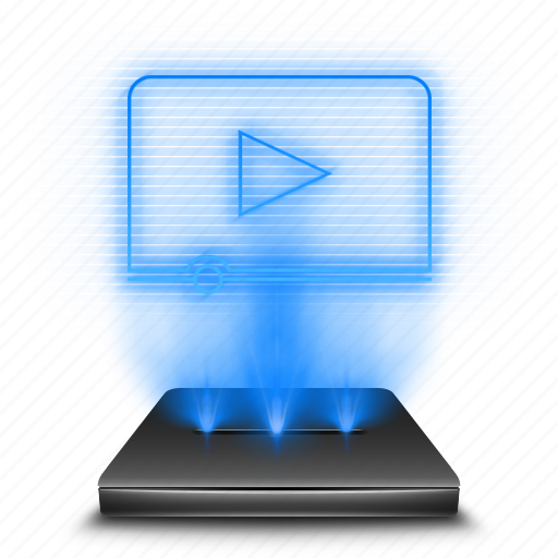 file, files, film, hologram, movies, videos icon
