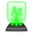 adobe, after, design, effects, hologram, illustrator icon