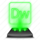 adobe, design, dreamweaver, hologram icon
