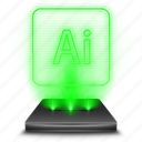 adobe, art, curve, graphic, hologram, illustrator icon