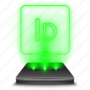adobe, design, hologram, holographic, indesign icon