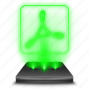 adobe, hologram, pdf, reader icon