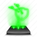 clans, clash, game, hologram, mobile icon