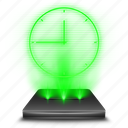 app, application, clock, hologram, holographic, scheldue, time icon