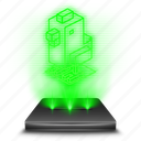 crossy, entertainment, game, holographic, road icon