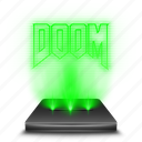 doom, entertainment, game, hologram icon
