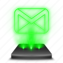 conversation, gmail, hologram, letter, mail, message icon