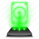 data, device, harddisk, hardware, hdd, hologram, storage icon