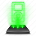 audio, hologram, media, music, player, sound, video icon