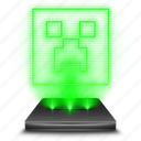 entertainment, game, hologram, minecraft icon