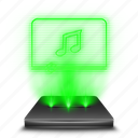 audio, hologram, holographic, multimedia, music, player, sound icon