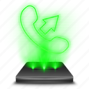 call, contact, contacts, hologram, holographic, phone, smartphone icon