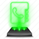 adress, chat, communication, hologram, phone, phonebook, telephone icon