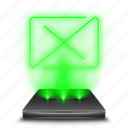 bin, delete, full, garbage, hologram, recycle, trash icon