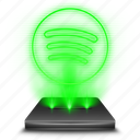 audio, hologram, holographic, music, sound, spotify, streaming icon