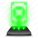 computer, device, drive, hologram, solid, ssd, state icon