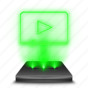 film, hologram, holographic, movies, multimedia, video, videos icon