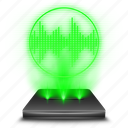 hologram, mic, microphone, record, recorder, voice icon