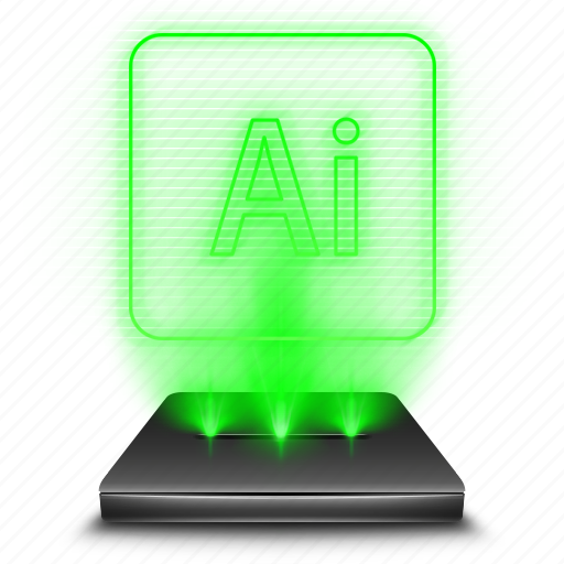 adobe, art, curve, graphic, hologram, holographic, illustrator icon