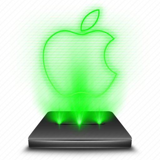apple, device, fruit, hologram, ios, operating, system icon