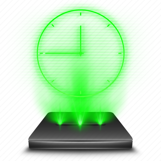 app, application, clock, hologram, scheldue, time icon