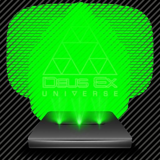 deus, ex, game, hologram icon