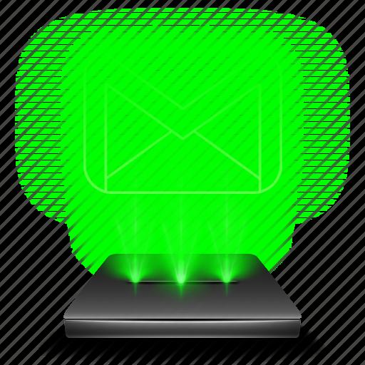 conversation, gmail, hologram, letter, mail, message icon