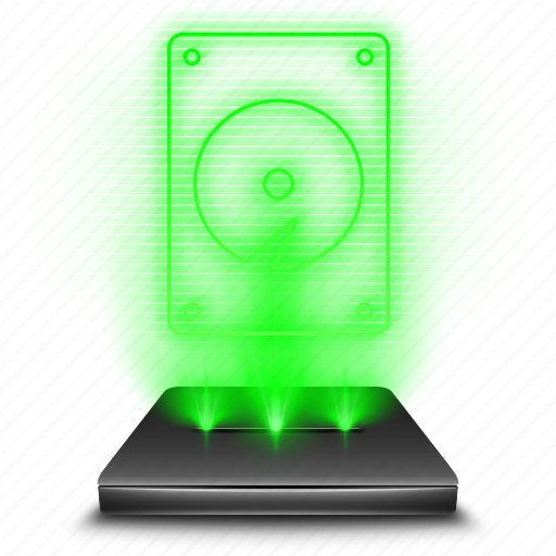 data, device, harddisk, hardware, hdd, hologram, storage icon