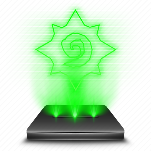 blizzard, entertainment, game, hearthstone, hologram icon