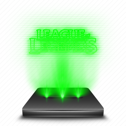 entertainment, game, hologram, league, legends, of icon