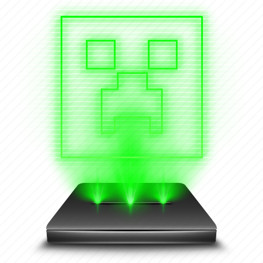 entertainment, game, hologram, minecraft icon