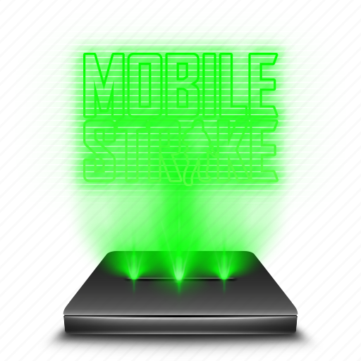 entertainment, game, hologram, holographic, mobile, strike icon