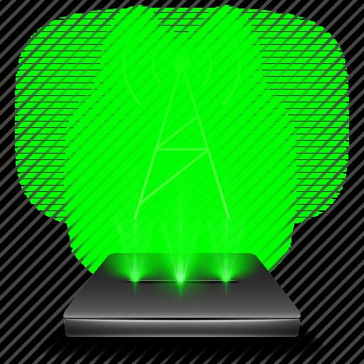 fmam, hologram, radio, wave icon