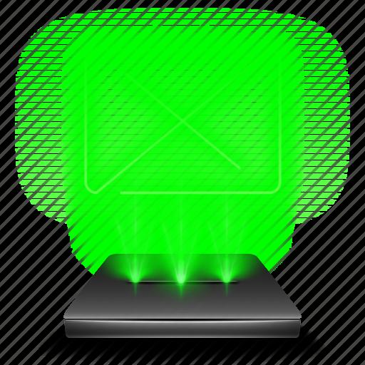 bin, delete, full, garbage, hologram, recycle, trash icon