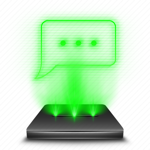 bubble, communication, hologram, message, messeges, sms, talk icon