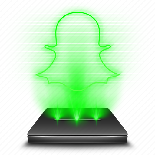 hologram, holographic, smartphone, snapchat, social, texting icon