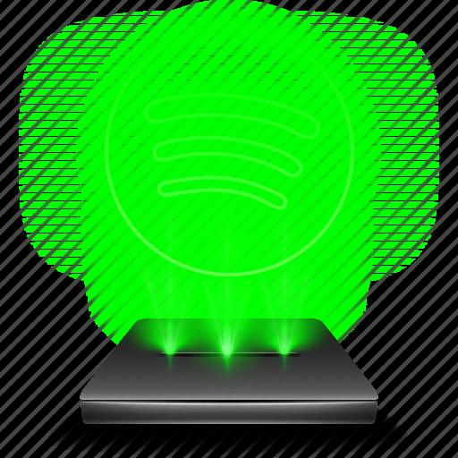 audio, hologram, music, sound, spotify, streaming icon