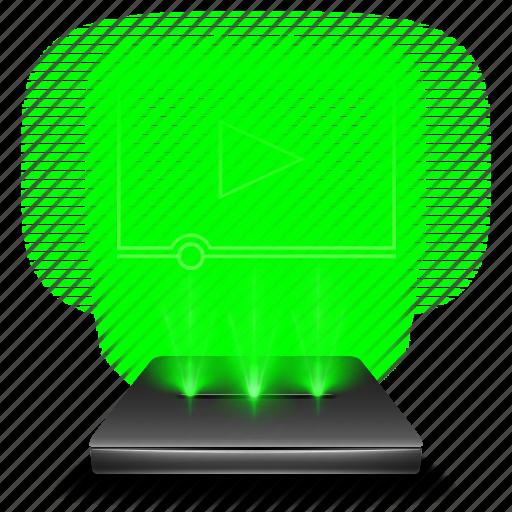 film, hologram, movies, multimedia, video, videos icon