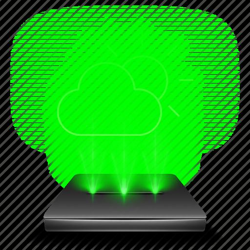 app, clouds, forecast, hologram, rain, temperature, weather icon