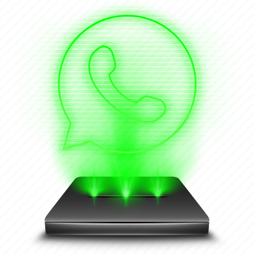 chat, communication, hologram, message, talk, whatsapp icon