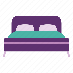 apartment, bed, bedroom, furniture, home, house, interior icon