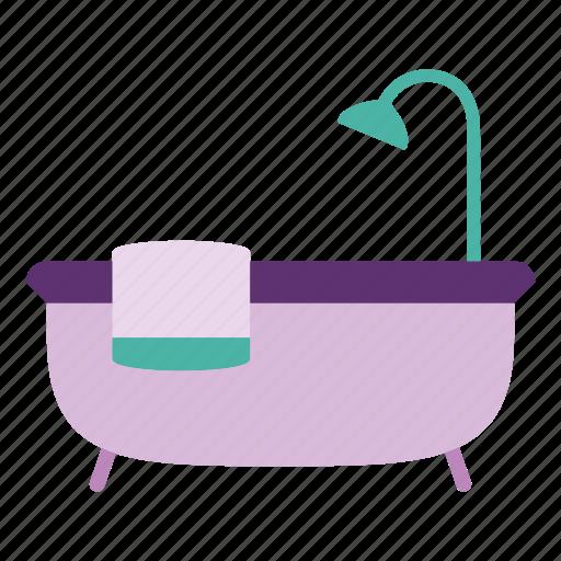 bath, bathroom, decor, furniture, home, interior, shower icon